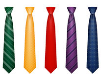 Set icons colors tie for men a suit vector illustration Stock Photo