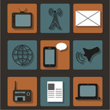 Set of icons of communication Tools Stock Photo