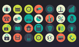 Set of icons for the IT company. Royalty Free Stock Photo