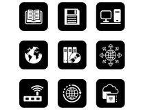 Set of icons for computer and electronic theme Stock Photography
