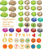 Set of icons for a computer game Stock Photo