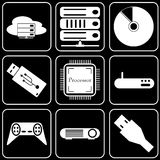 Set  icons - Computer, Web, Internet, Technology Royalty Free Stock Photo