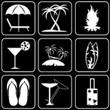 Set  icons - Computer, Web, Internet, Technology. White  icons on a black background Stock Photo
