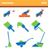 Set of icons construction. Royalty Free Stock Photos