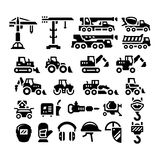 Set icons of construction equipment Royalty Free Stock Image