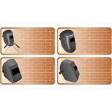 Set of icons construction industry Stock Photos