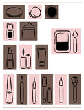 Icons cosmetics. Set of icons cosmetic,vector illustration Royalty Free Stock Image
