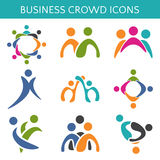 Set of icons crowd business relationship.  illustration Stock Photography