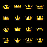 Set of icons crowns Royalty Free Stock Photos