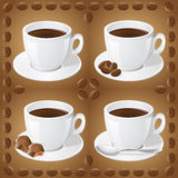 Set of icons of cups with coffee Royalty Free Stock Images