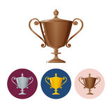 Set icons cups of winner,icon  trophy cup Stock Images