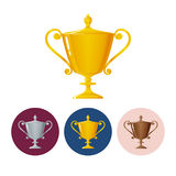 Set icons cups of winner,icon  trophy cup Royalty Free Stock Image