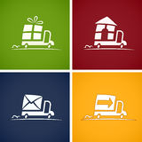 Set icons for delivery service Royalty Free Stock Image