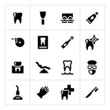 Set icons of dental Stock Photography