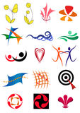 Set of icons and design elements Royalty Free Stock Photos