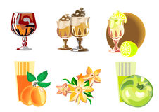 A set icons of desserts Royalty Free Stock Photos