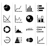 Set icons of diagrams, charts and business infographics Stock Photography