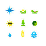 Set of icons different directions Stock Photos
