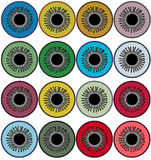 Set of icons of different eye colors. Raster. Raster Royalty Free Stock Photography