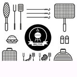 Set bbq tools Royalty Free Stock Images