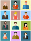 Set of icons of different people Stock Photography