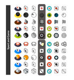 Set of icons in different style - isometric flat and otline, colored and black versions Stock Images