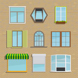 Set of icons different types windows Stock Images