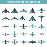 Set icons of  drone  on white Royalty Free Stock Images