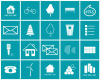 Set of  icons on of the ecology Royalty Free Stock Photo