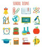 Set of icons education.flat style Royalty Free Stock Photography