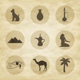 Set of icons of Egypt Stock Images