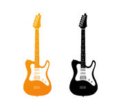 Set of Icons with Electric Guitars Stock Image
