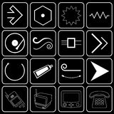 Set of icons (electronics, equipment, another) Royalty Free Stock Images