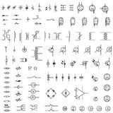 Set of icons of electronics. Stock Photos