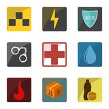 Set of icons emergency special services and consumer services for the population. Can be used for your business application. Isola. Ted vector on white vector illustration