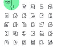 Set of icons for file and document editing and formatting. Modern outline web icons collection for web and app design and development. Premium quality vector Royalty Free Stock Image