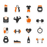 Fitness an icon Stock Image