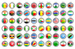 Set of icons. Flags of the African countries. Stock Images