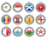 Set of icons. Flags of the Europe. Royalty Free Stock Photos