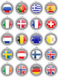 Set of icons. Flags of the Europe. Stock Photos
