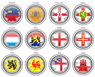 Set of icons. Flags of the Europe. Stock Image