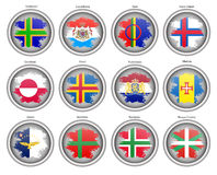 Set of icons. Flags of the Europe. Royalty Free Stock Images