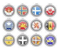 Set of icons. Flags of the Europe. Stock Images
