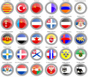 Set of icons. Flags of former countries in Europe. Stock Images