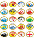 Set of icons. Flags of german cities Baden-Wurttemberg. Stock Images