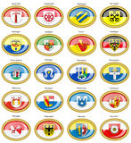 Set of icons. Flags of german cities Baden-Wurttemberg. Royalty Free Stock Photos