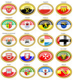 Set of icons. Flags of german cities Baden-Wurttemberg. Stock Photos