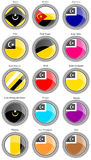 Set of icons. Flags of the Malaysian districts. Stock Photos