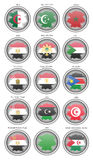 Set of icons. Flags of the North Africa. Royalty Free Stock Photography