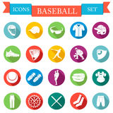 Set of  icons flat about baseball Royalty Free Stock Photo